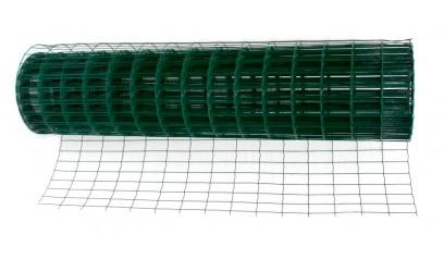 Сетка сварная оцинкованная с ПВХ покрытием в рулонах 25*25 d2 (1*30м)