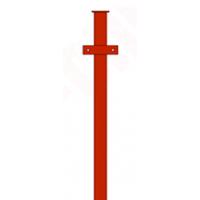 Столб (с планками) ПГ 3м. 50*50 (1.5мм)