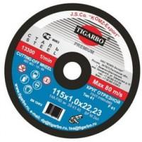 Круги отрезные по металлу TIGARBO 115*1.2*22 уп.50шт