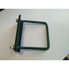Крепеж для сетки (хомут) 50*50мм зеленый оцинкованный