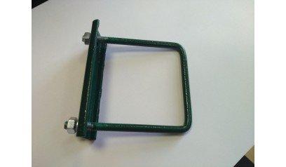 Крепеж для сетки (хомут) 80*80мм зеленый оцинкованный