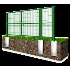 Распашные ворота из сварной 3d-сетки гиттер