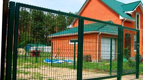 распашные ворота для дачи